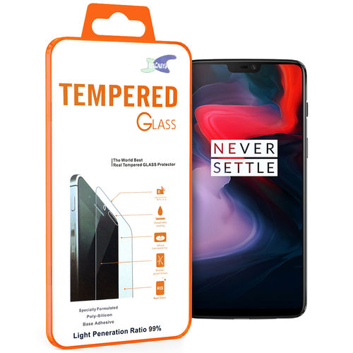 Calans 9H Tempered Glass Screen Protector for OnePlus 6 - Clear